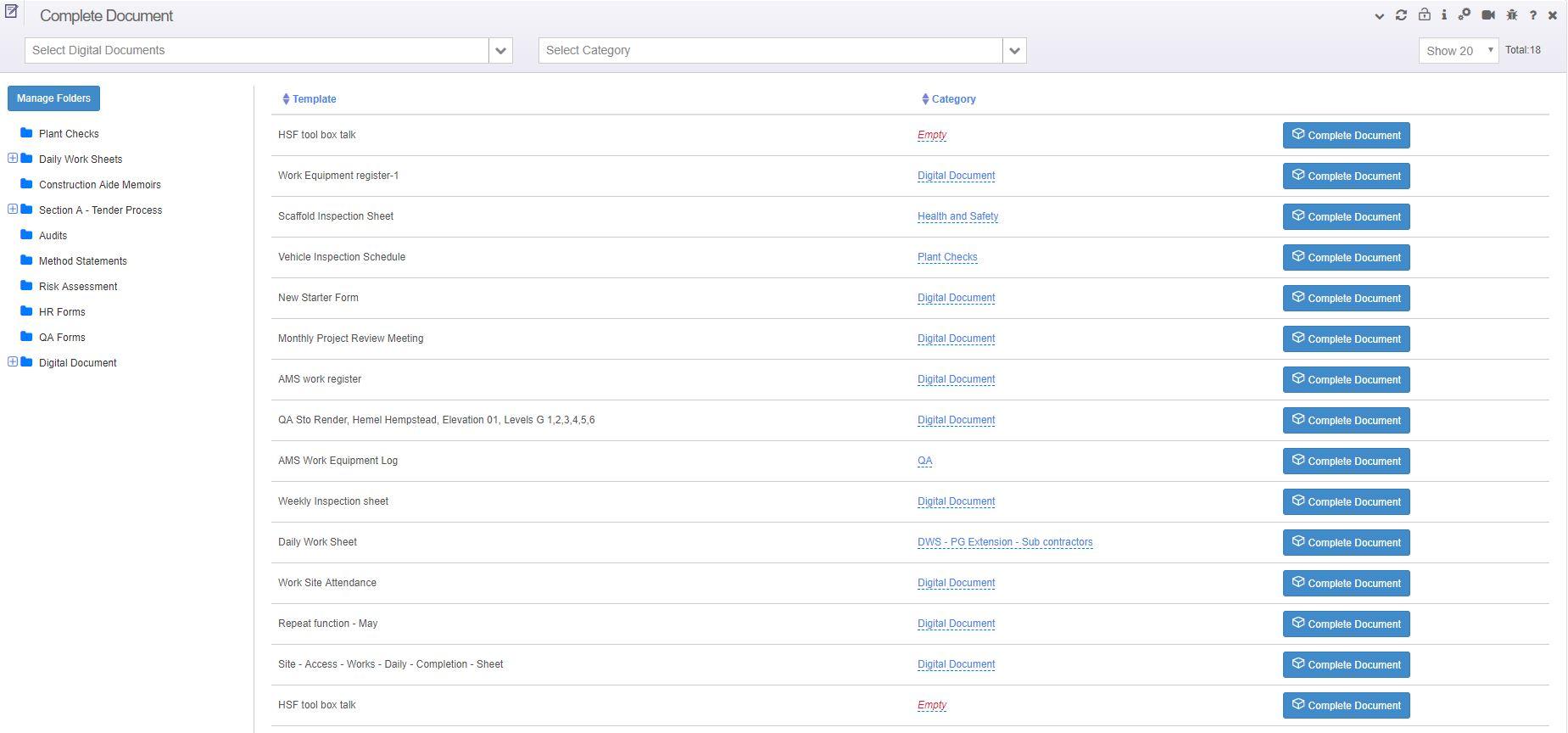 Builderstorm-Digital-Documents-Listing